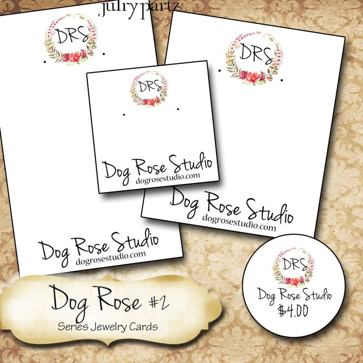 DOG ROSE #2•Custom Tags•Labels•Earring Display•Clothing Tags•Custom Hang Tags•Boutique Card•Tags•Custom Tags•Custom Labels by JulryPartZ on Etsy https://www.etsy.com/listing/499899595/dog-rose-2custom-tagslabelsearring