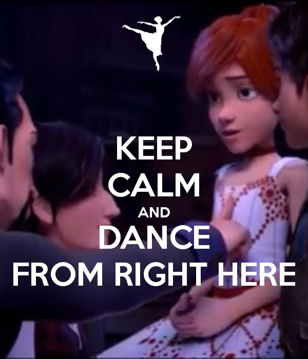 'KEEP CALM AND DANCE FROM RIGHT HERE' Poster