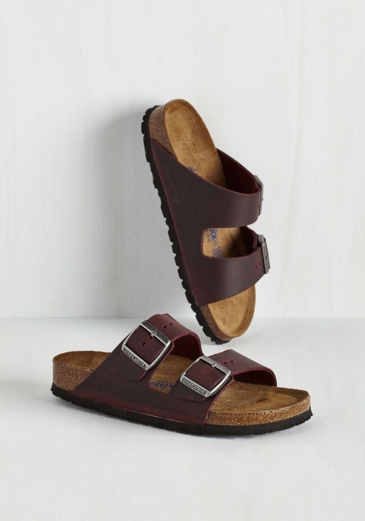 Strappy Camper Sandal in Wine.