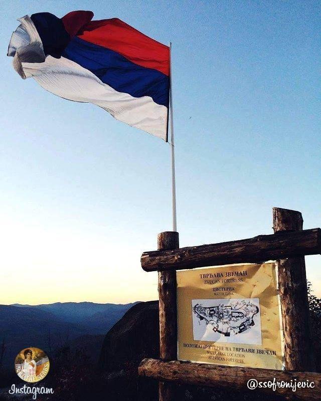 #Serbia #flag #Zvecan #Kosovo #Metohija | #Застава #Србија #Звечан #Косово #Метохија | #MeetTheSerbs #travel https://www.instagram.com/meet.the.serbs