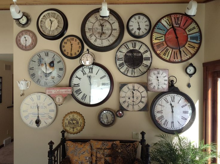 25+ Best Ideas About Wall Of Clocks On Pinterest