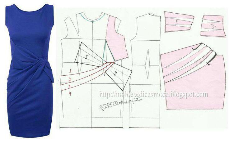 asymmetric draped dress