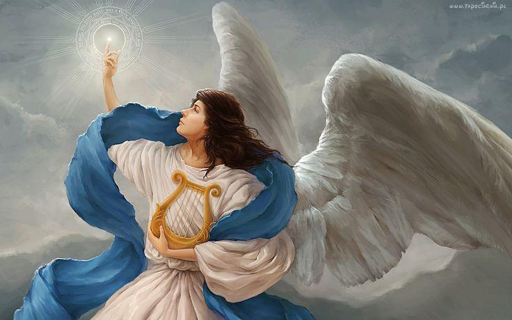 Anioł, Harfa, Światło