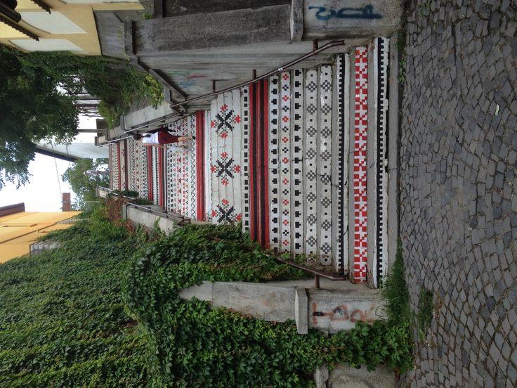 ROMANIA: The Rakoczi stairs in Tirgu Mures, Romania