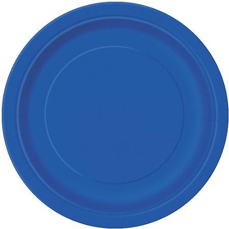 Royal blue Paper PlatesPacks of 9 Round Paper by FunWithPearl