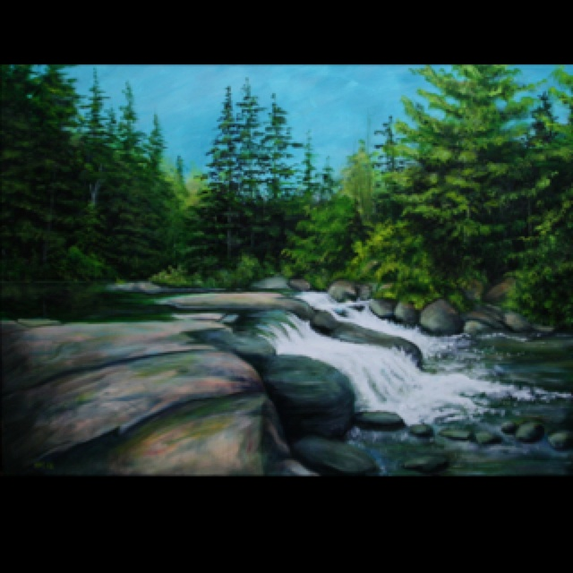 Along the Madawaska Acrylic on Canvas Katie Ohlke  2011