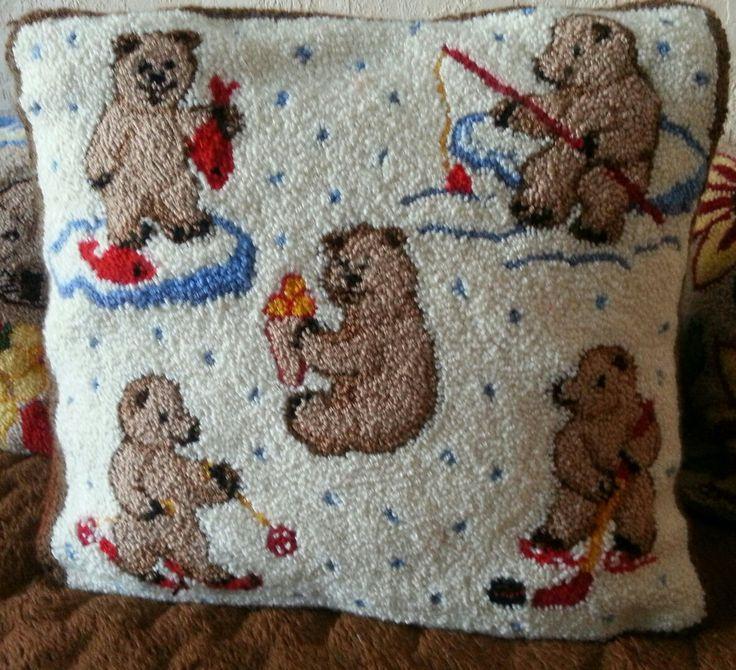 Bears - Punch needle Rug Hooking