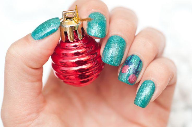 #theredpoppy #nail #polish #lacquer #manicure #nail_art The Red Poppy: Зимний нейл-арт для флешмоба Winter 11DNC