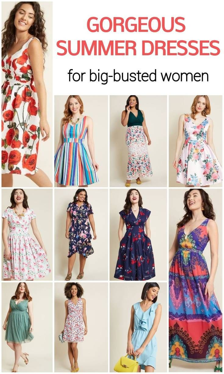 4 Flattering Summer Dresses for a Big Bust and Tummy That You
