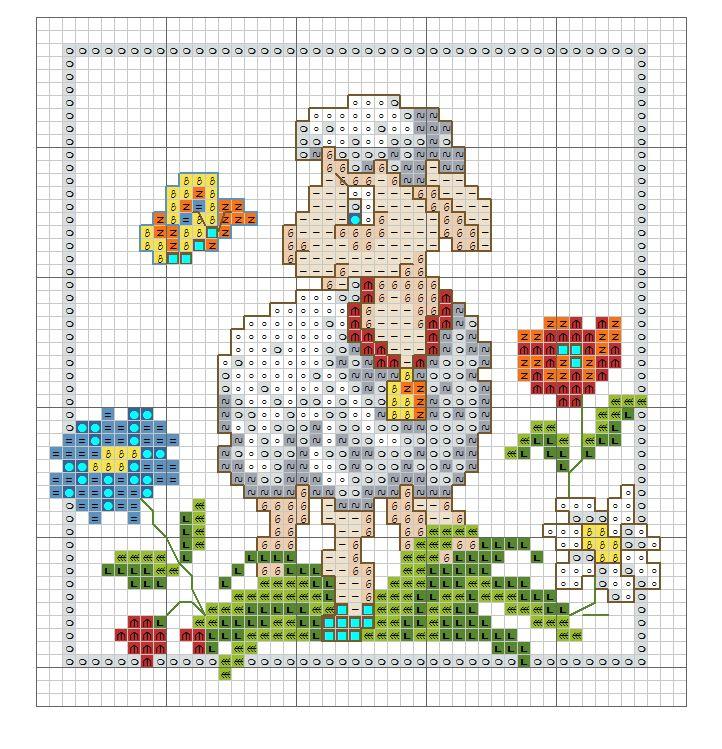 Kreuzstich Schaf Lamm - cross stitch sheep