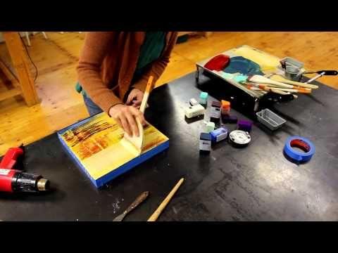 R&F Pintura Encáustica - YouTube