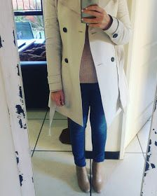 http://adorkablesa.blogspot.co.za/2017/06/my-5-fall-faves.html  Forever New. Trench Coat. Pink Chunky Knit Sweater. Jeans. Fall Outfit. Winter Outfit. Spring Outfit. Fashion. Work.