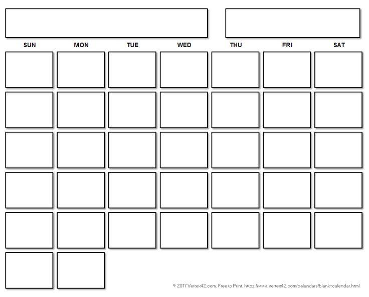 The 25+ best Printable blank calendar ideas on Pinterest   Free ...