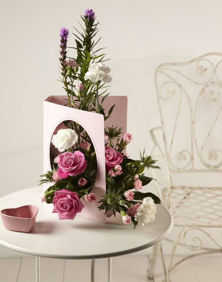 Create a floral gift for mother s day using living card