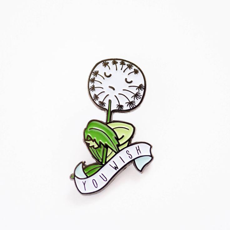 You Wish Dandelion Soft Enamel / Lapel Pin by ilootpaperie on Etsy https://www.etsy.com/listing/524711666/you-wish-dandelion-soft-enamel-lapel-pin