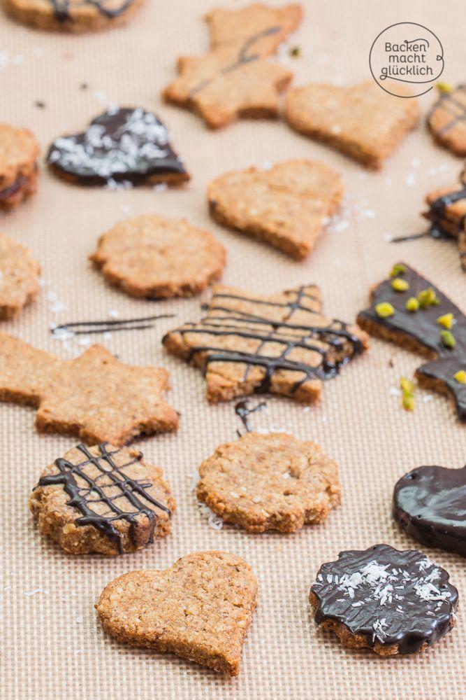 So köstlich kann Clean Eating sein! Diese Kekse zum Ausstechen bestehen nur aus guten, natürlichen Zutaten, sind glutenfrei und verzichten auf Weißmehl und weißen Zucker