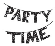 Washi tape party banner ♥