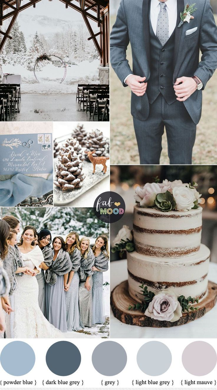 Grey And Blue Wedding Theme For Winter