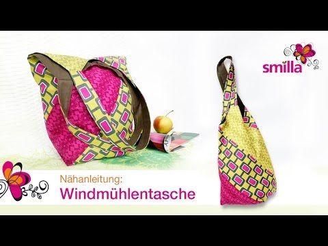 Windmühlentasche nähen - Nähanleitungsvideo   smillablog