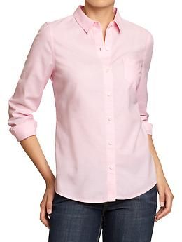 Women's Oxford Shirts | Old Navy-light pink (Laura Roslin BSG)