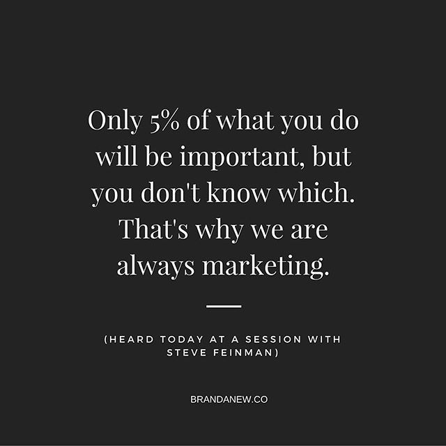 via brandanew.co Attended a great session by Steve Feinman in @aadlgram #annarbor district #library - such a great #quote on why #marketing is a consistent investment for all of us and our #brands