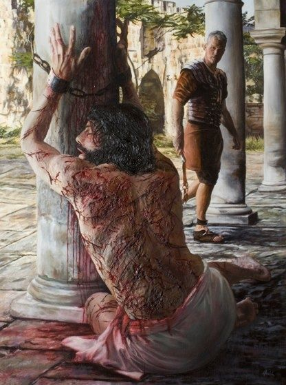 Jesus did this for me! He could have called a legion of angels, but He loved me so that He stayed there and took the beating that I deserved for my sin. I thank you Jesus