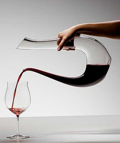 Riedel glassware - a glass for very drink imaginable (image shows the Riedel Amadeo Lyra Decanter Launched in 2006 and originally produced to celebrate the 250th anniversary of Riedel $395.00)