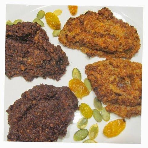 dieta warzywno owocowa: Ciastka gryczano-marchewkowe z bakaliami [bezglutenowe]