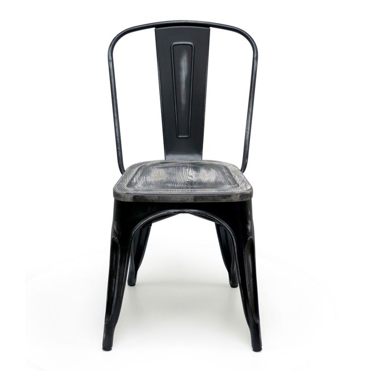 bastille cafe stacking chair antique black w wood seat