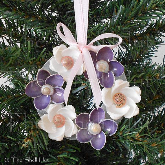 Hey, I found this really awesome Etsy listing at https://www.etsy.com/listing/207016749/seashell-christmas-wreath-ornament-white