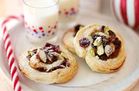 These festive mincemeat and cranberry puff swirls are the perfect after dinner treat | Tesco