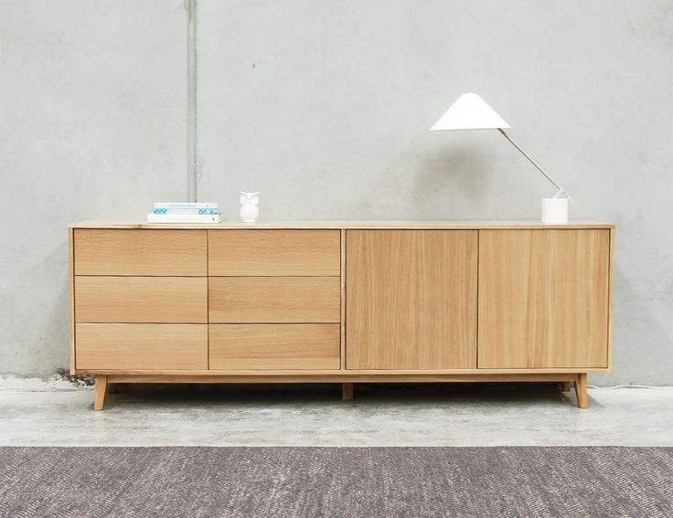 Copenhagen Solid European Oak Sideboard Buffet 220cm By Bent Design