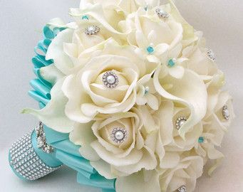 tiffany blue wedding bouquet - this is the one omg love!