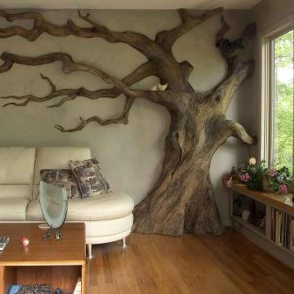 30 fantastic wall tree decorations that will inspire you –