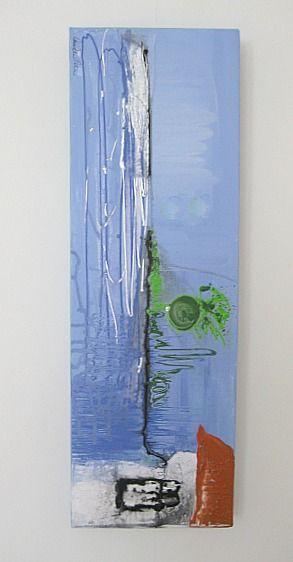 Art/Konst. Acrylic on canvas/Akryl på duk. 60 x 20 cm. By Camilla Nilsson, Camilla Nilsson Design.
