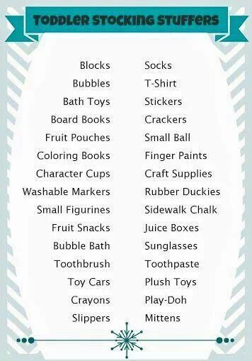 Stocking stuffers for toddlers Christmas gift ideas for kids children- some of these will work