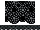 Checkout the Lots Of Dots Black Bulletin Board Border, Scalloped product