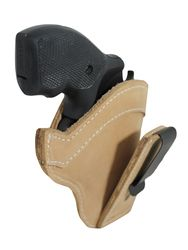 """New Tan Leather Tuckable IWB Holster for Snub Nose 2"""" 22 38 357 41 44 Revolvers (TU68-8NT)"""