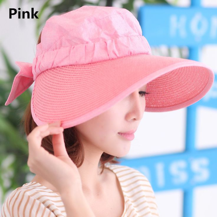Wide brim sun hat bow decoration UV package protection hats for women