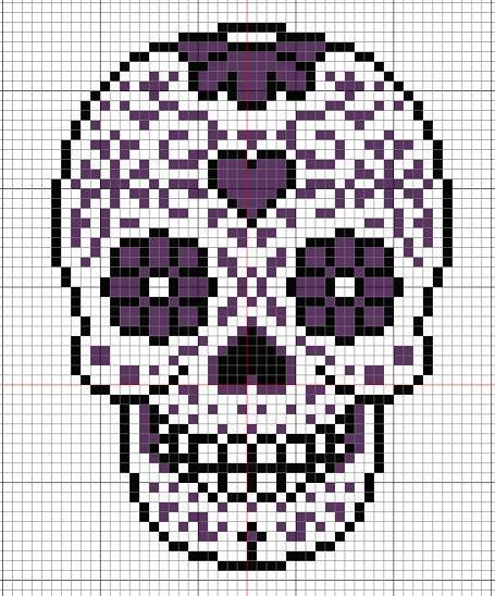 Calavera Day of the dead sugar skull cross stitch pattern
