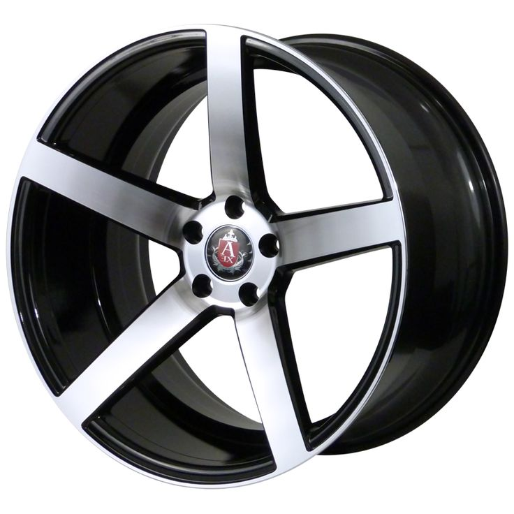 AXE EX18 GLOSS BLACK POLISHED FACE alloy wheels with stunning look for 5 studd wheels in GLOSS BLACK POLISHED FACE finish with 18 inch rim size