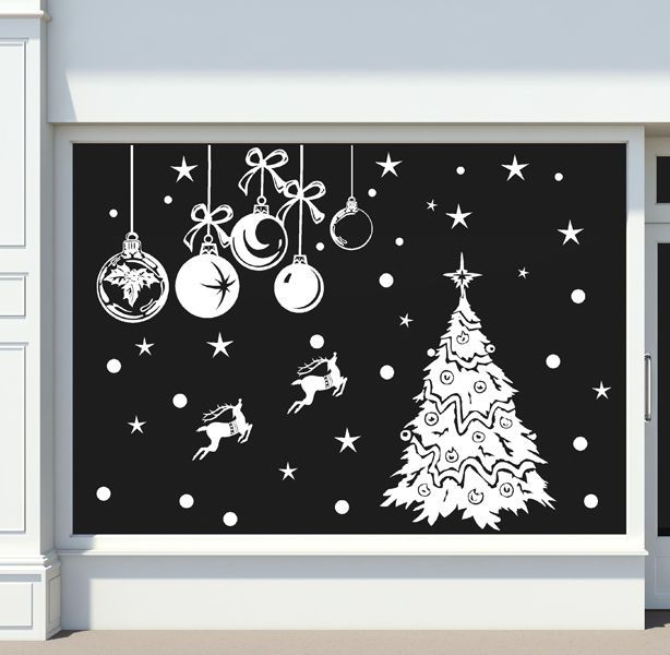 CHRISTMAS DECORATION STICKER / Shop Window Xmas Sign / HUGE SIZE N86   Home, Furniture & DIY, Celebrations & Occasions, Christmas Decorations & Trees   eBay!