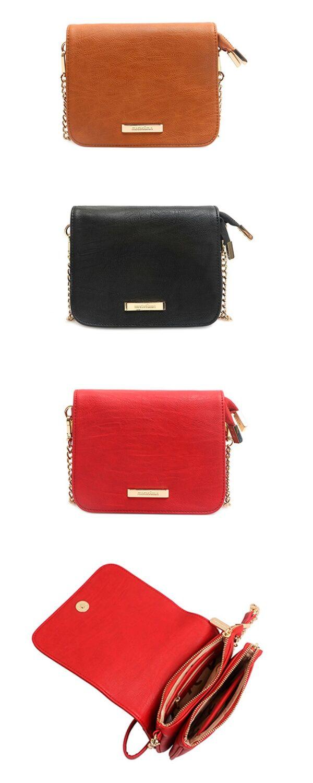 01878698b Bolsa Pequena Tiracolo Feminina Macadamia Bianca Alca Corrente de mão  transversal vermelha combina com short jeans