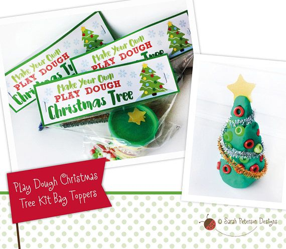 WHAT YOU GET: A festive design for making your own Play Dough Christmas Tree kits. Download includes 8.5 x 11 sheet with two printable Play Dough Christmas Tree bag toppers, and six paper stars. Toppers fit standard size sandwich ziplock bag. YOU MAKE YOUR OWN KITS! Children use