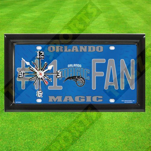 ORLANDO MAGIC NBA CLOCK  BY TAGZ SPORTS  FREE SHIPPING -- Want additional info? Click on the image.