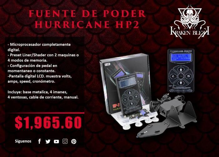 Kraken Blekk: Fuente de poder Hurricane HP2 - ¡Disponible en Kichink!