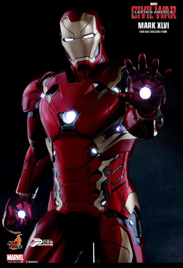 Captain America Civil War Iron Man Mark XLVI by Hot Toys - The Toyark - News
