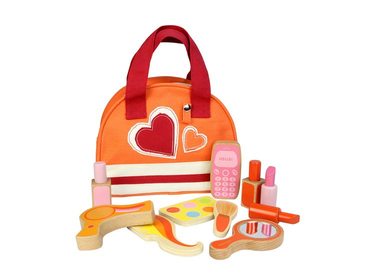 This adorable wooden Beauty Kit includes a make-up set and a hair-styling kit. Together with the beautiful canvas carrying case, your little stylist will have big fun with her friends.  An ideal preschool and educational toy.