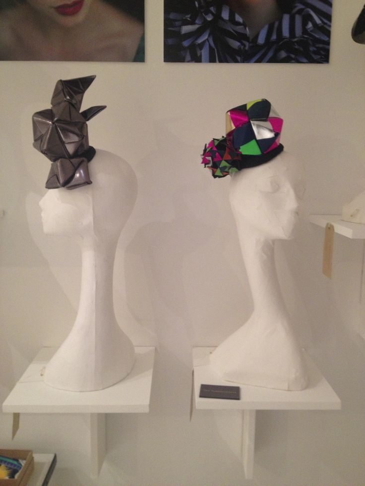 New collection. . Metallic leather headpieces.