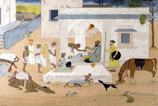 Aurangzeb, As He Was According To Mughal Records: Hindus forced to suffer humiliation in paying the Jizyah tax during the reign of Aurangzeb